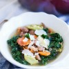Kale, Pancetta, and Cheese Tortellini Soup