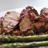 Pork Tenderloin with a Lingonberry and Mustard marinade