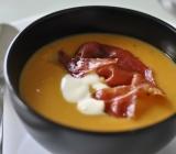 Chipotle Sweet Potato Soup with Crème Fraiche