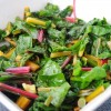 Swiss Chard with Garlic Scapes and Cultured Butter
