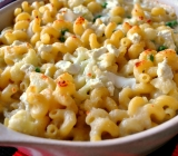 Macaroni and Cheese with Cauliflower and Peas (sauce is Gluten-Free)