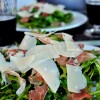 Baby Arugula Salad with Prosciutto, Shaved Parmesan and Balsamic Vinaigrette