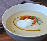 Creamy Parsnip Soup with Tarragon & Pancetta Crisps