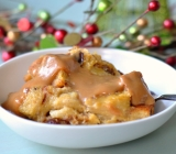 Eggnog Bread Pudding with Dulce de Leche