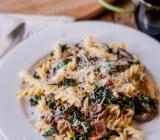 Creamy Pasta with Kale, Mushrooms & Pancetta