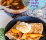 Buckwheat Crepes with Caramelized Pears and Whipped Cream