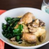 Braised Chicken Thighs in a Mushroom Cream Sauce