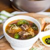 Italian Meatball Soup with Spinach