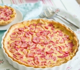 Rhubarb and White Chocolate Custard Tart