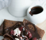 Chocolate Teff Crepes