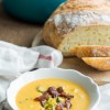 Broccoli Cheddar & Sweet Potato Soup
