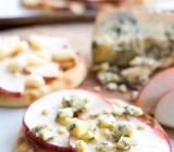 Savoury Flatbreads with Apples and Crumbled Blue Cheese