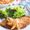 Pork Schnitzel with Warm Savoury Apples