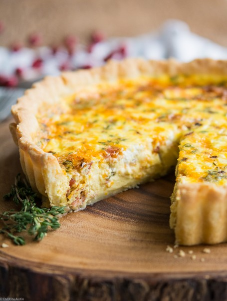Pancetta, Shallot, Cheddar and Goat Cheese Quiche