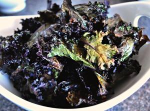 Crispy Red Kale Chips