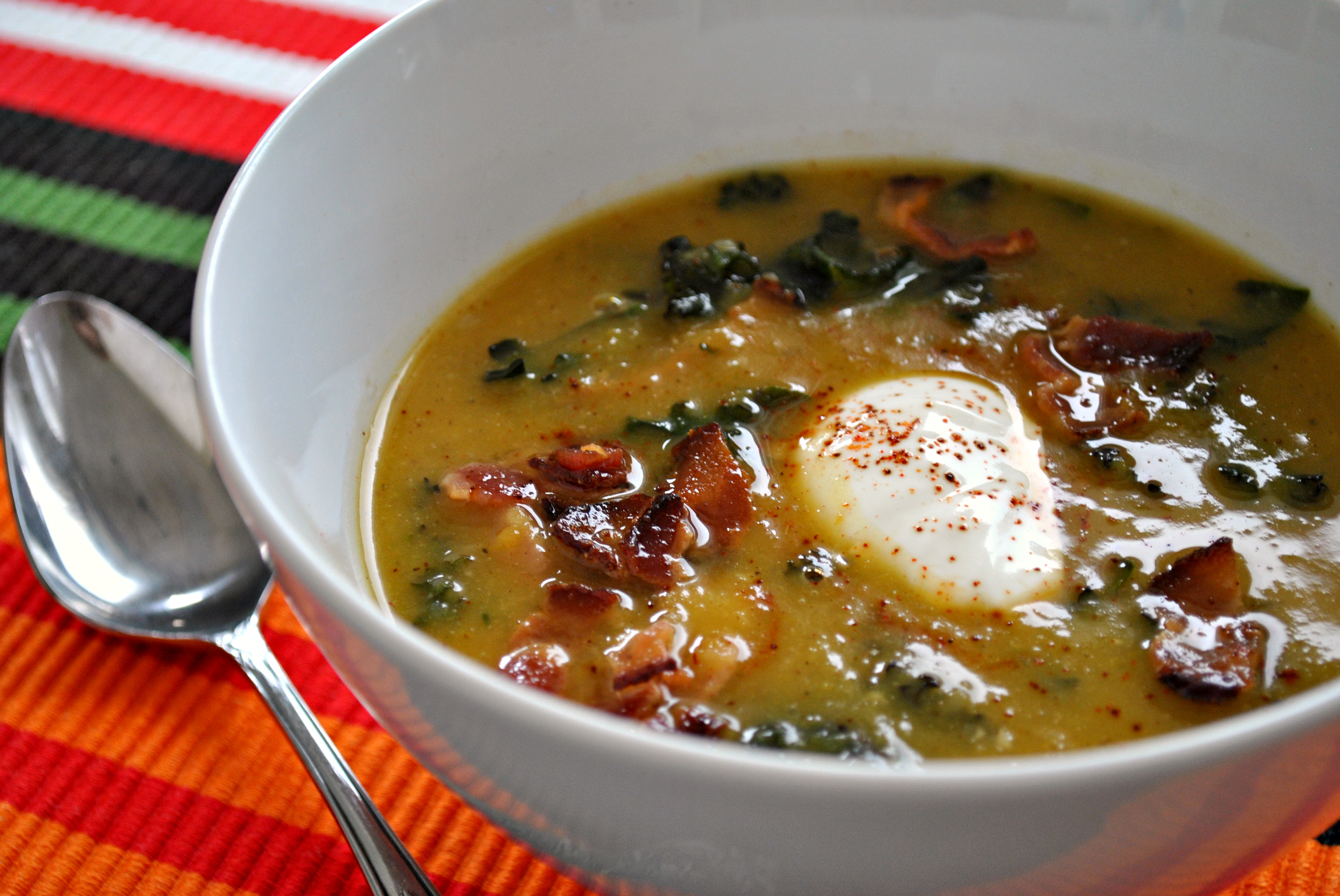 Acorn Squash and Kale Soup - Strawberries For Supper