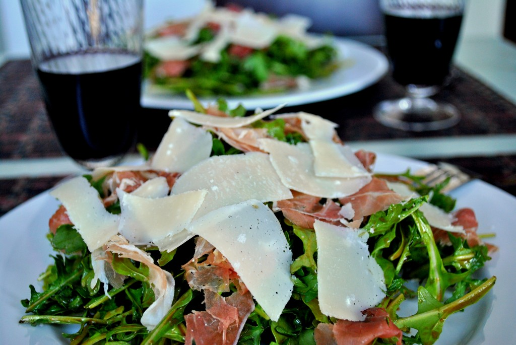Baby Arugula Salad with Prosciutto, Shaved Parmesan and ...