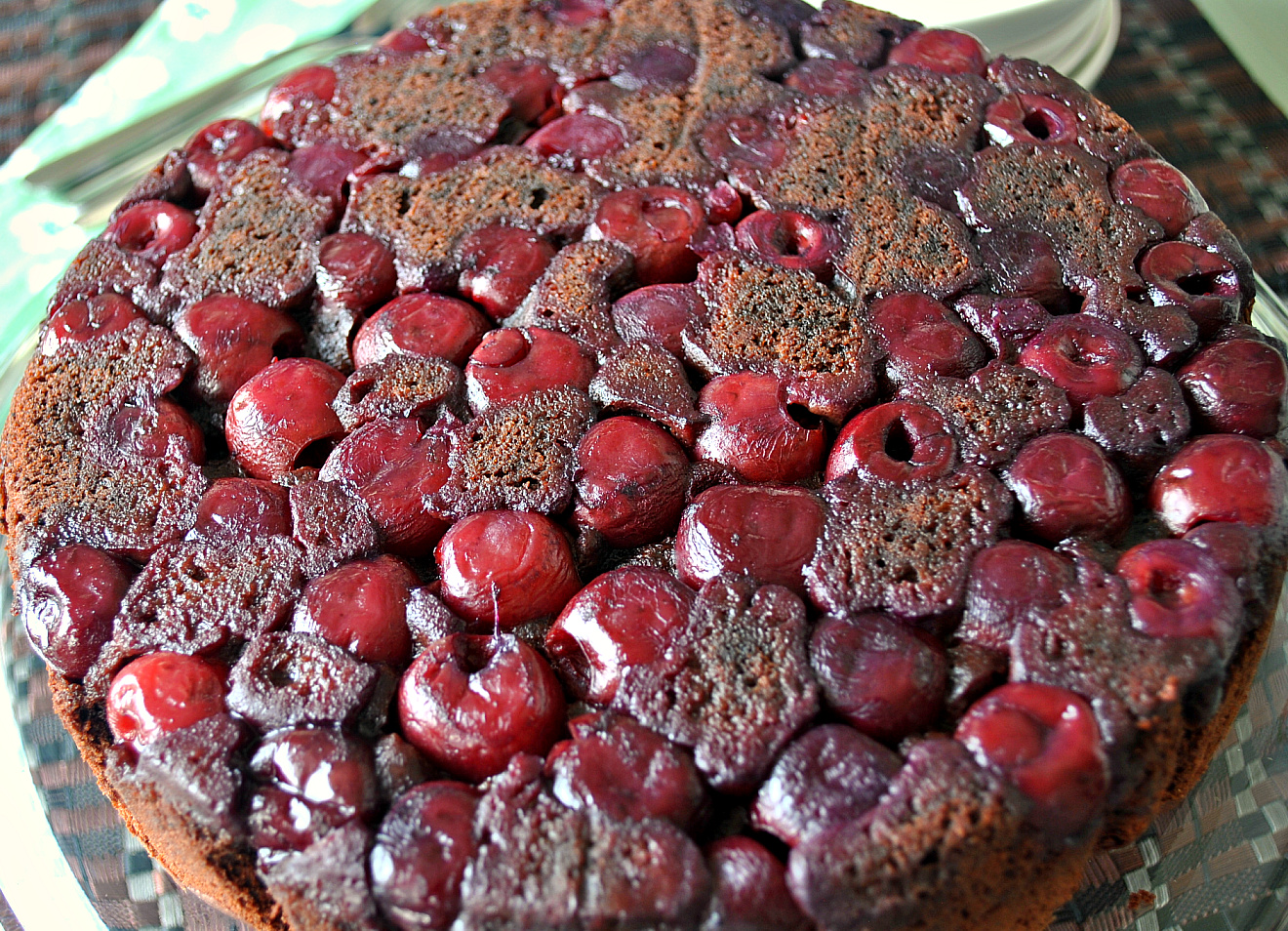 Gluten-free Chocolate Cherry Upside-Down Cake - Strawberries For ...
