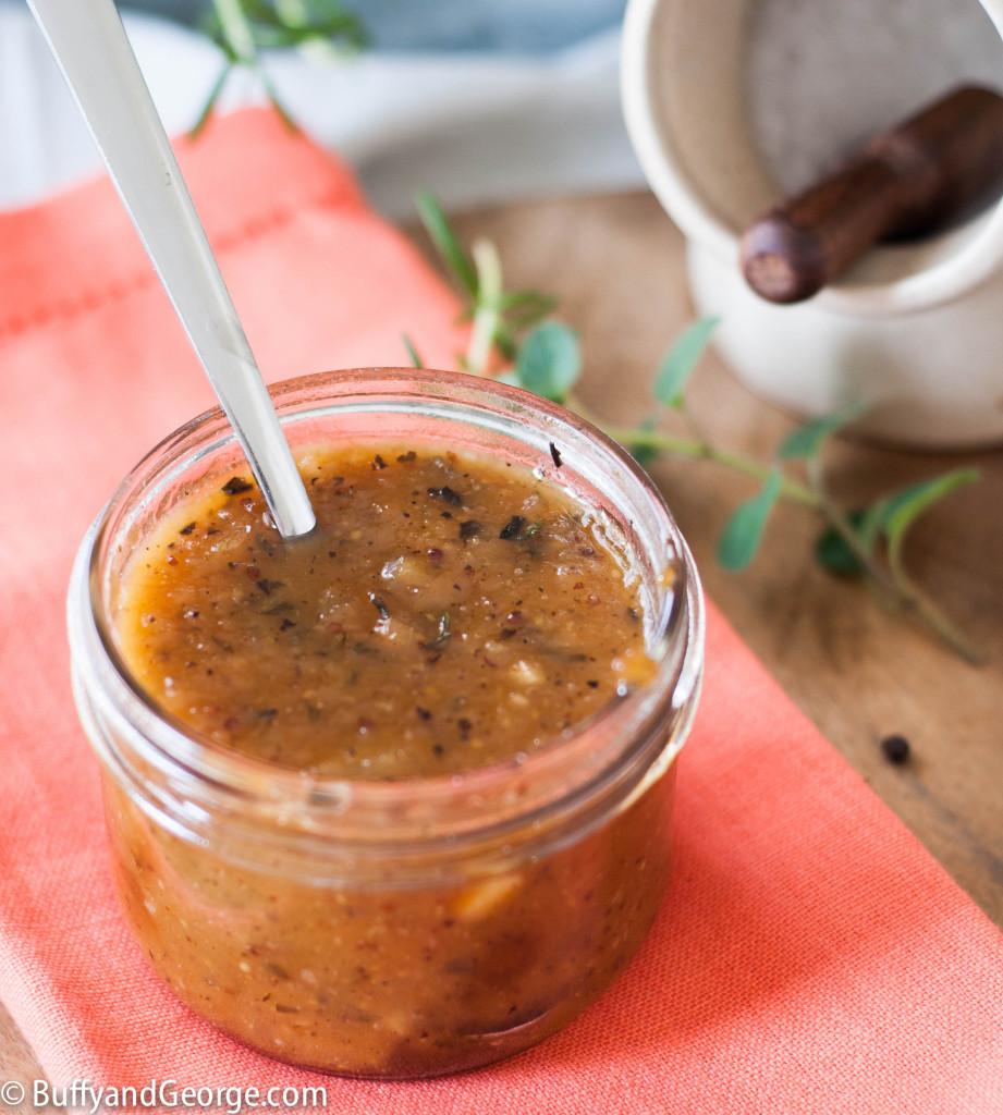 Chunky Peach Jam BBQ Sauce