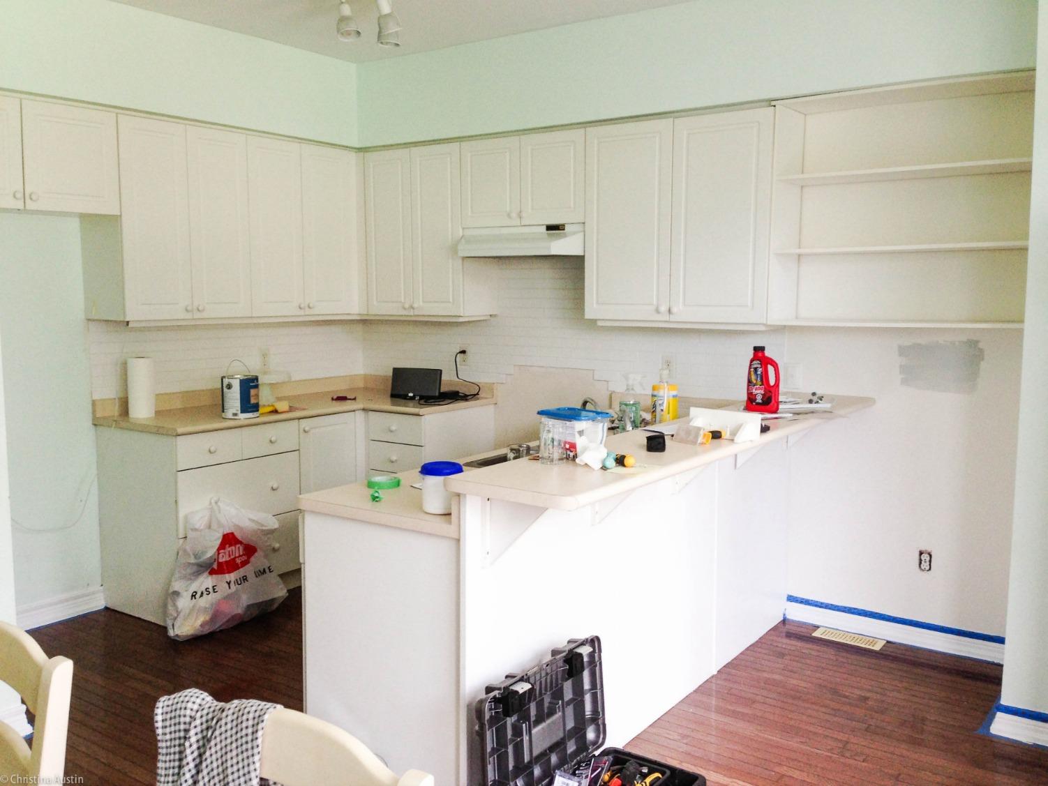 Kitchen reno 'before' photo