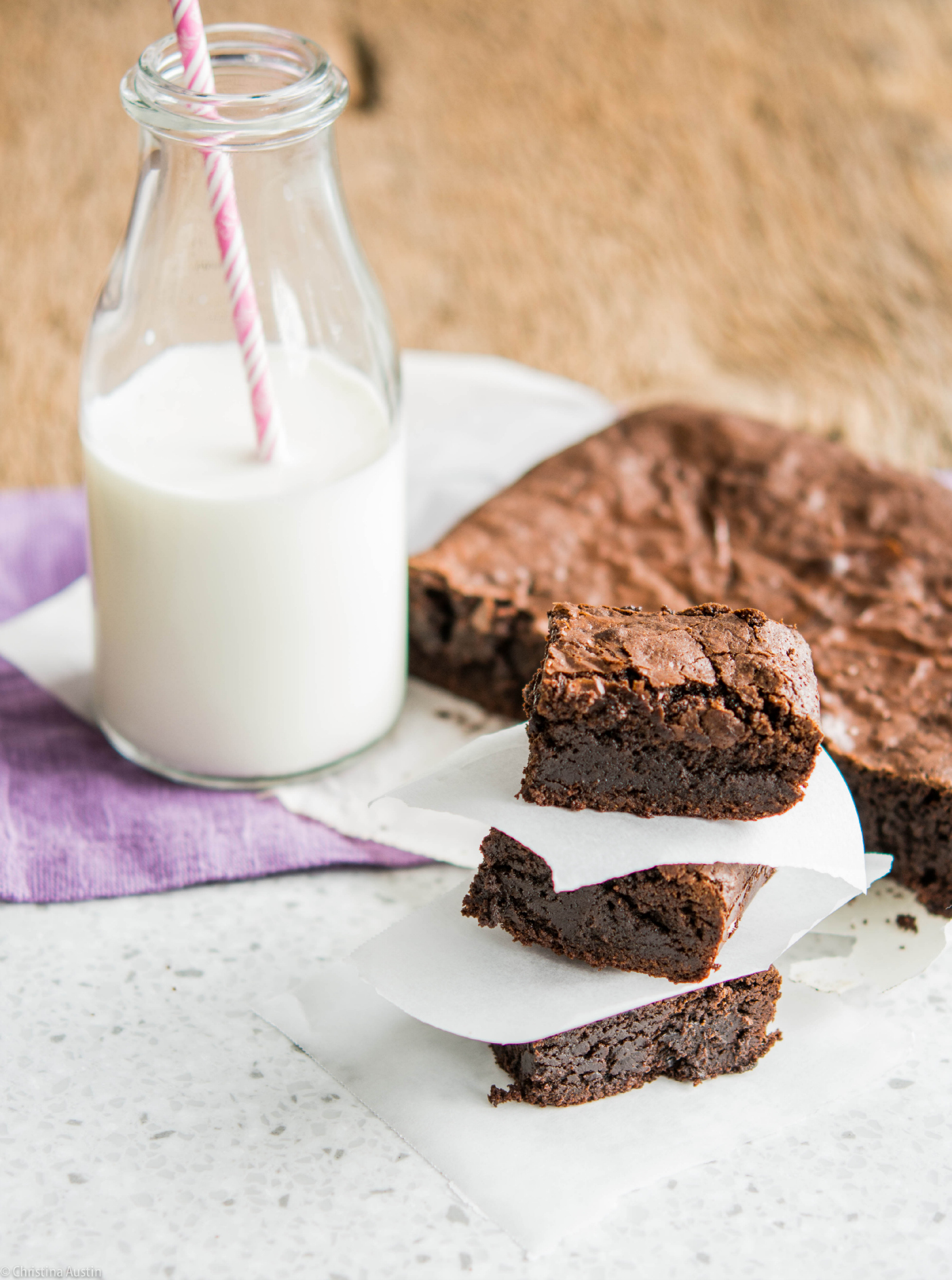 Fudgey Teff Brownies
