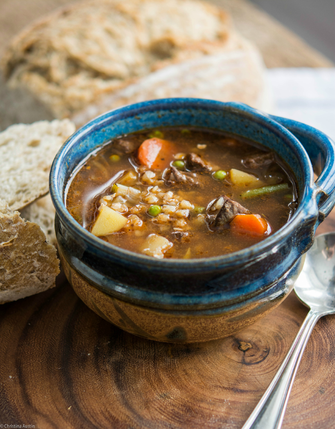 Beef, Vegetable, and Buckwheat Soup
