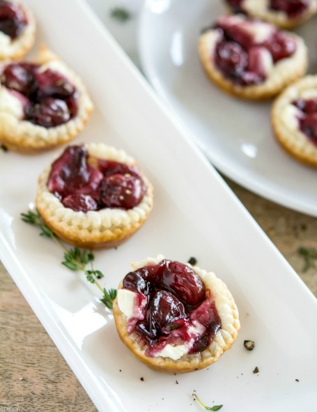 Peppered Sour Cherry and Goat Cheese Tarts