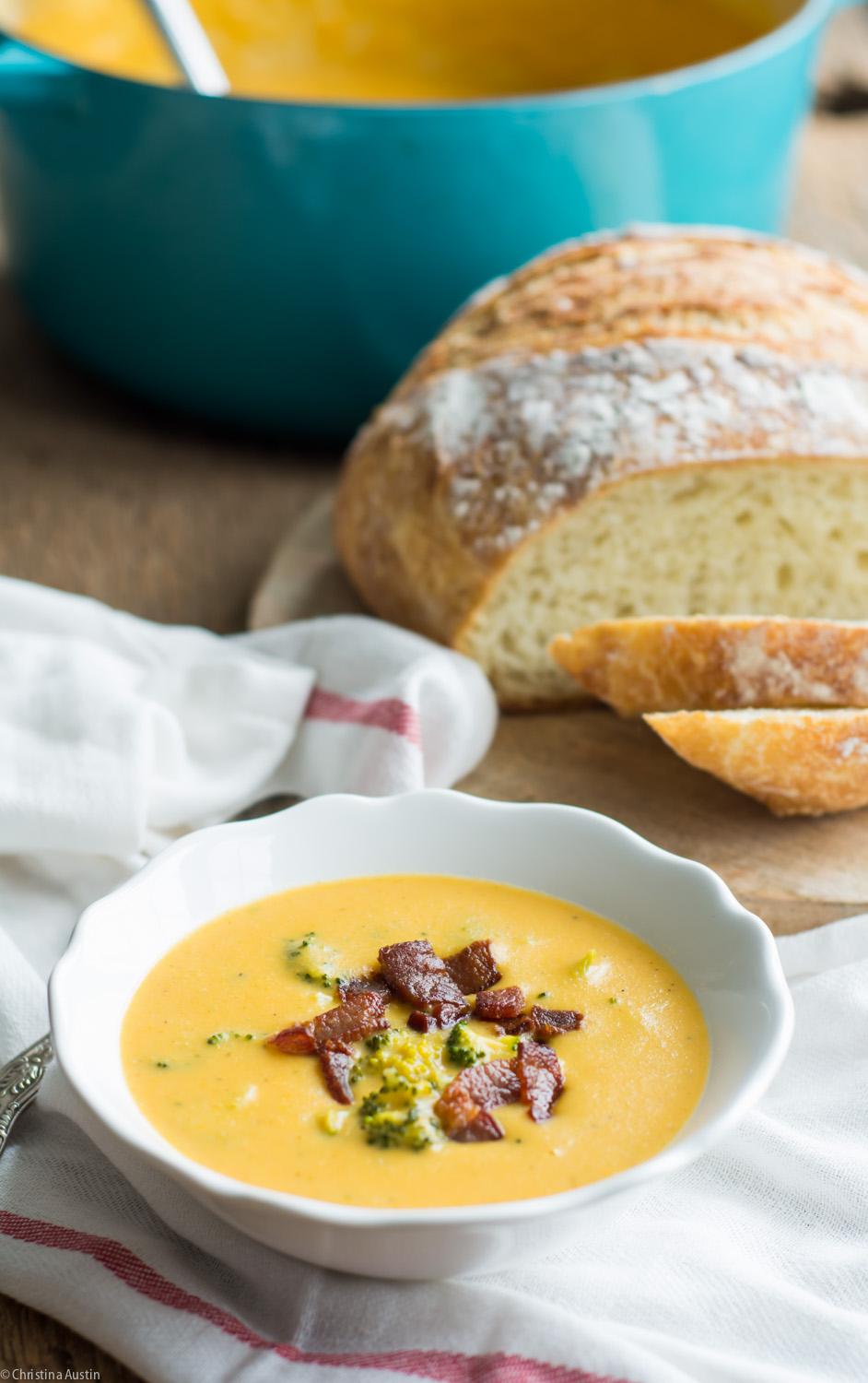 Broccoli Cheddar Soup with Sweet Potato 2