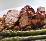 Pork Tenderloin with a Lingonberry and Mustard marinade