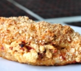 Almond and Parmesan Crusted Chicken Breast Stuffed with Goat Cheese and Sundried Tomatoes