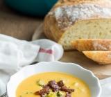 Broccoli Cheddar & Sweet Potato Soup