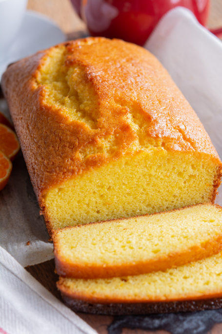 Clementine Yogurt Cake sliced